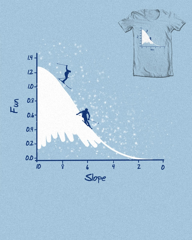 Skiing on a Gaussian slope by bandy on Threadless