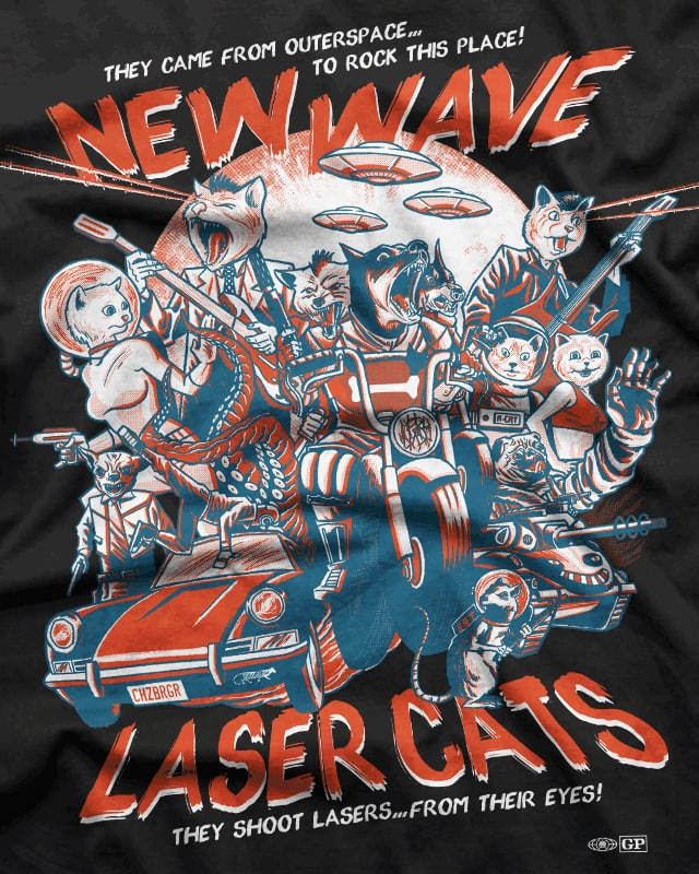 New Wave Laser Cats: The Movie! by r.o.b.o.t.i.c.octopus on Threadless