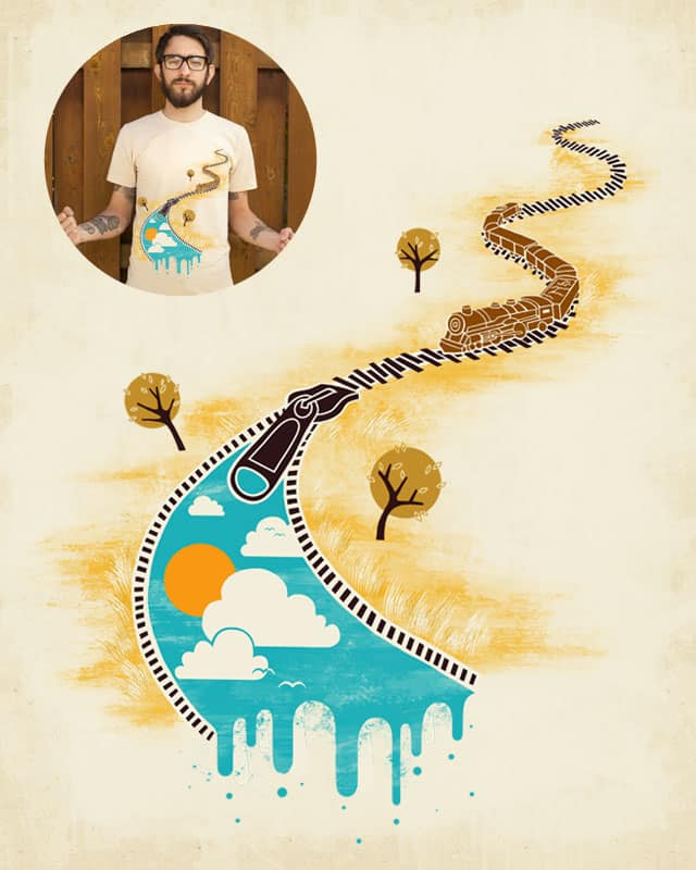 Zipping Through by ignzed on Threadless