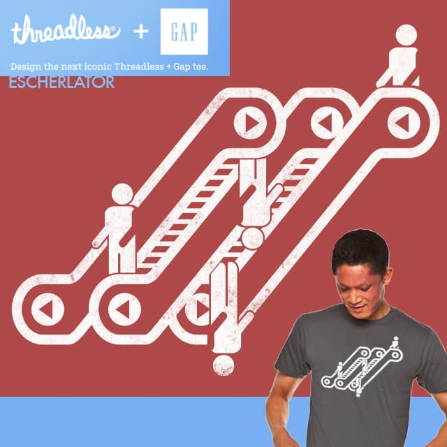 escherlator by yoshi andrian on Threadless
