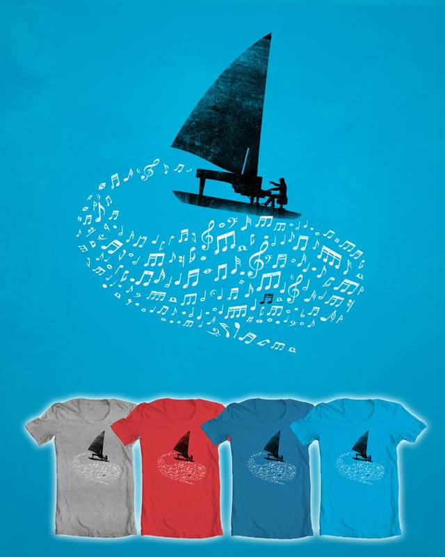 Sailing along the music by monkeypim on Threadless