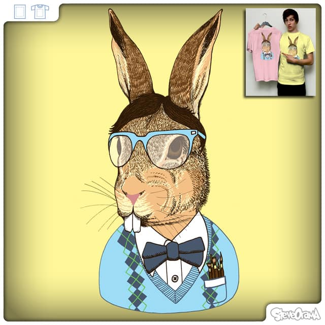 Nerd Bunny by SteveOramA on Threadless