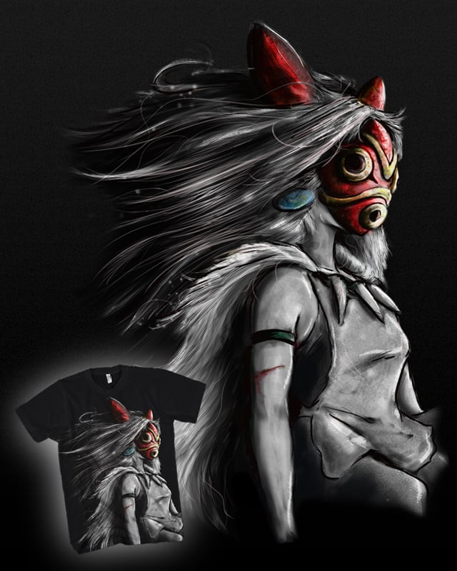 Wolf Girl San in Mask by barrettbiggers on Threadless