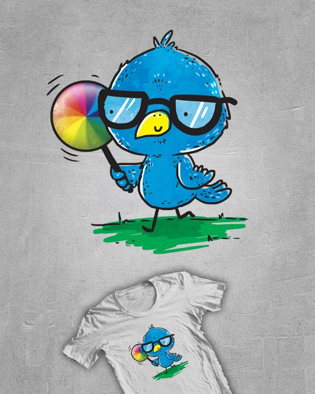 Mac the bird and his pinwheel by TheInfamousBaka on Threadless