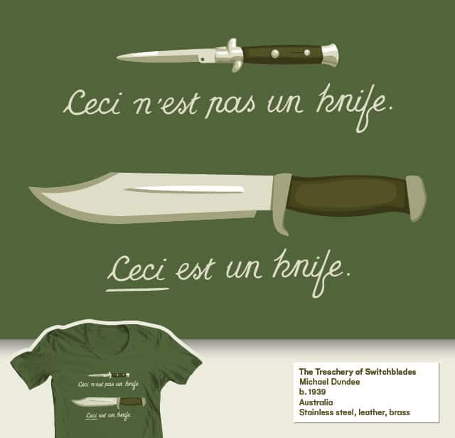 The Treachery of Switchblades by nasmo on Threadless