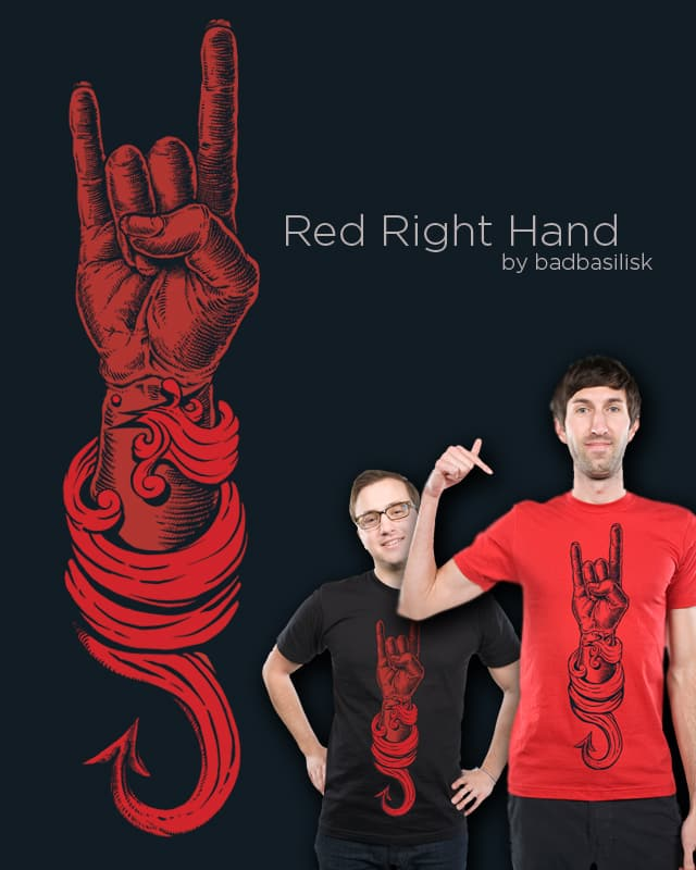 RED RIGHT HAND by badbasilisk on Threadless
