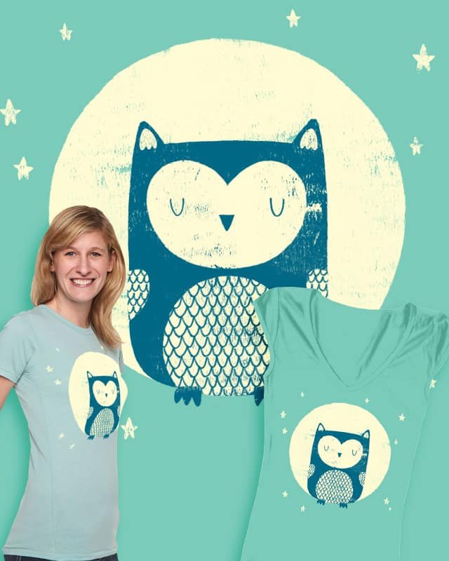 The Moon Owl by Monster Riot on Threadless