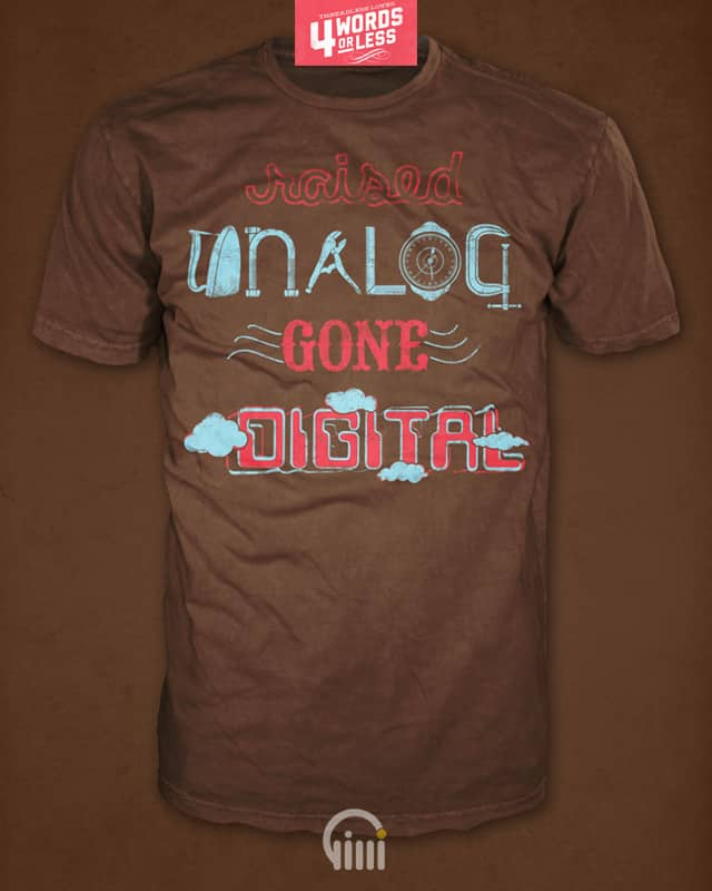 Raised analog gone digital by opippi on Threadless