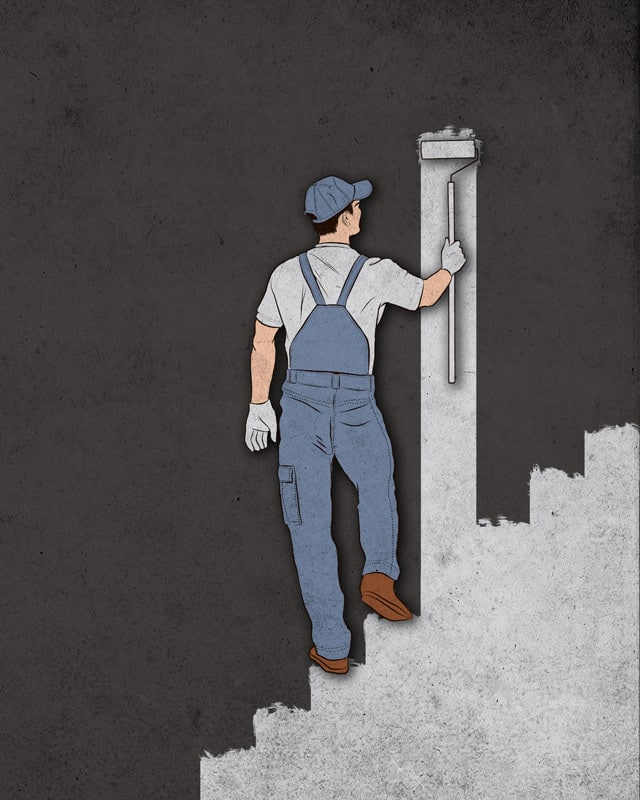 Painting the stairs by kooky love on Threadless