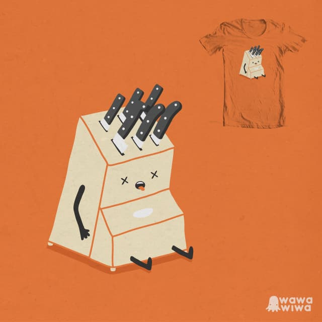 Lived on a knife's edge by wawawiwa on Threadless