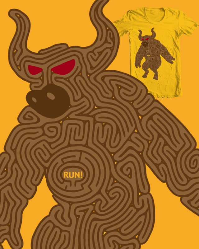 Escape the Minotaur! by Calvincent on Threadless