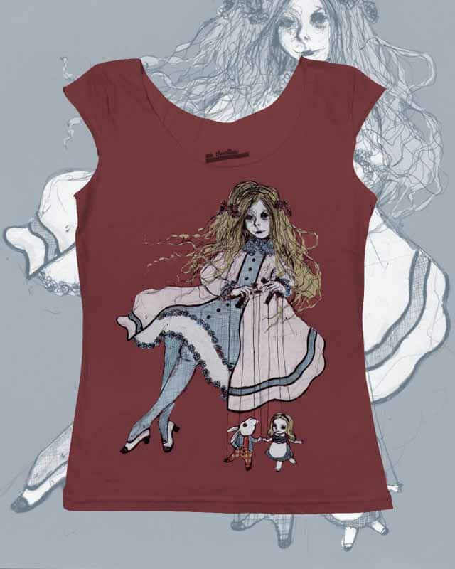 The Red Queen and Alice by choquerie on Threadless