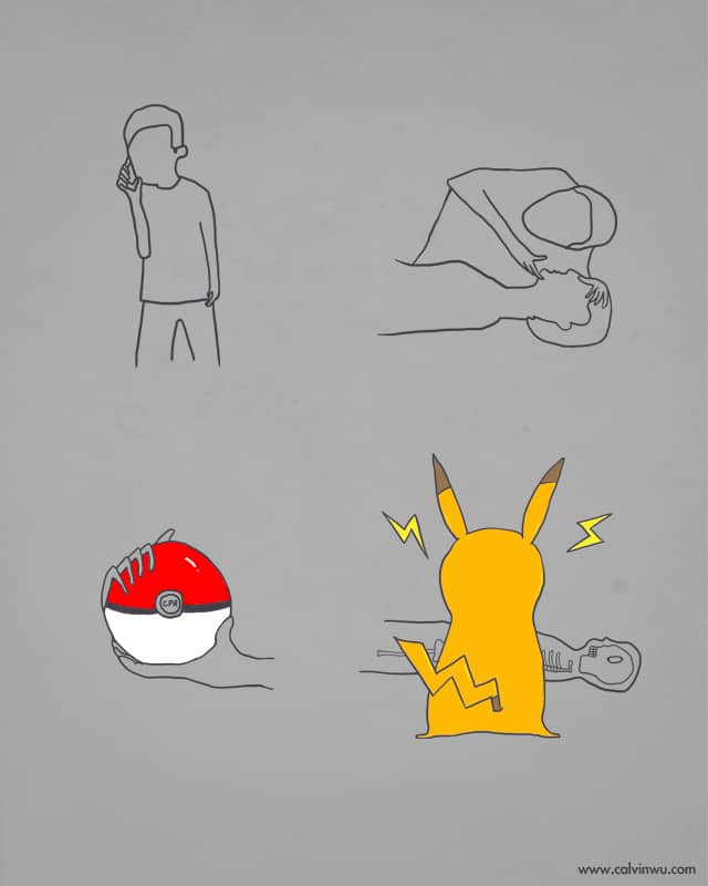 New instructions of CPR!! by Calvin Wu on Threadless