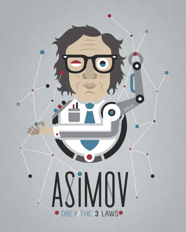 """Asimov's Laws"" by Chamuko on Threadless"