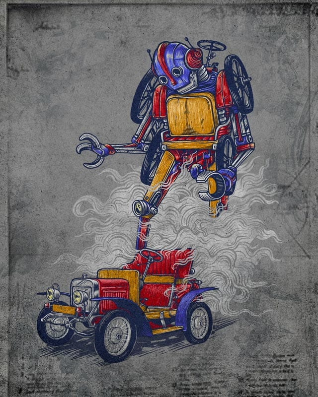 Old Transformer by kooky love on Threadless