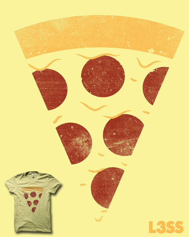 Minimal Pizza With No Anchovies by biotwist on Threadless