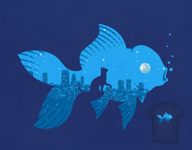 Night of Goldfish by ben chen on Threadless