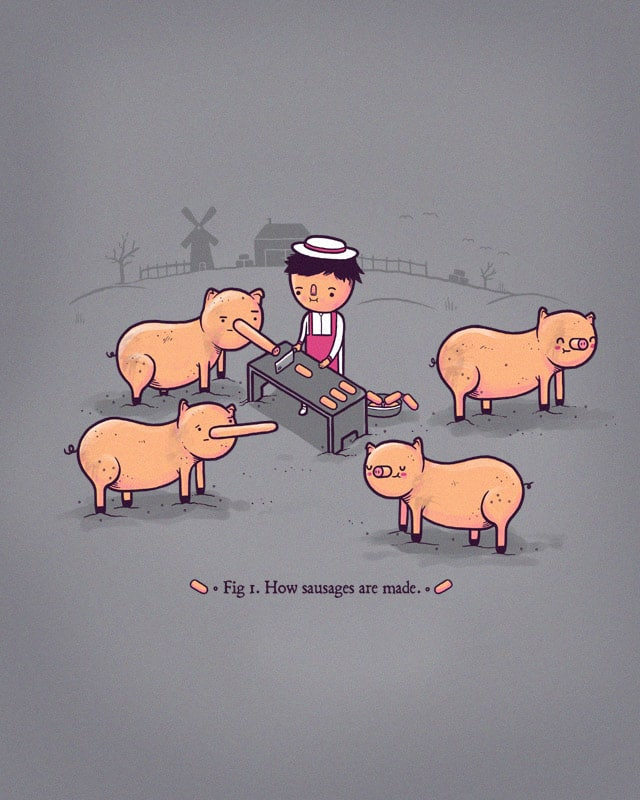 How sausages are made MK2 by randyotter3000 on Threadless