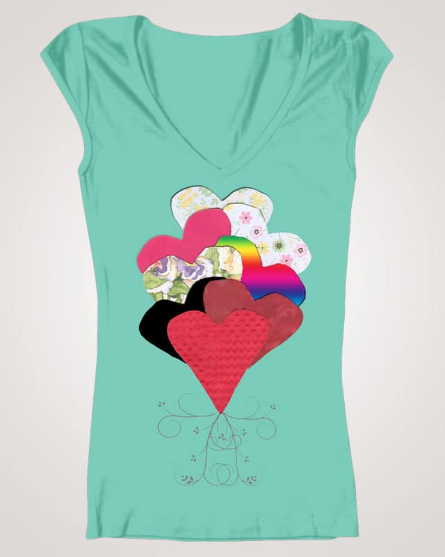Paper Hearts by megarielang on Threadless