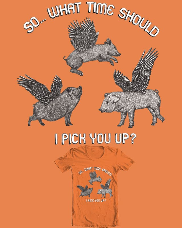Pigs are flying by Andy Angel on Threadless