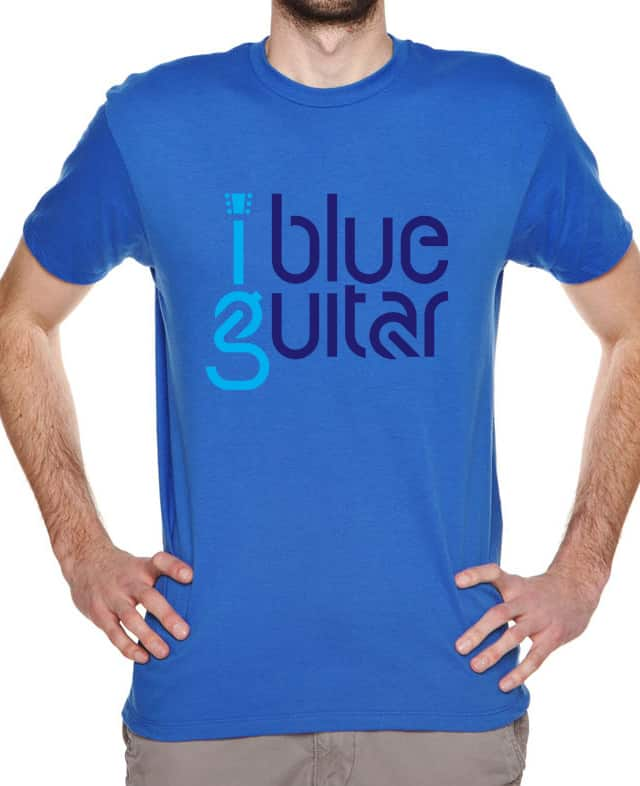 1 blue guitar by designcat on Threadless
