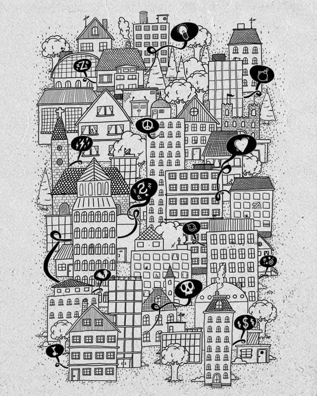 the sound of the city by jott on Threadless