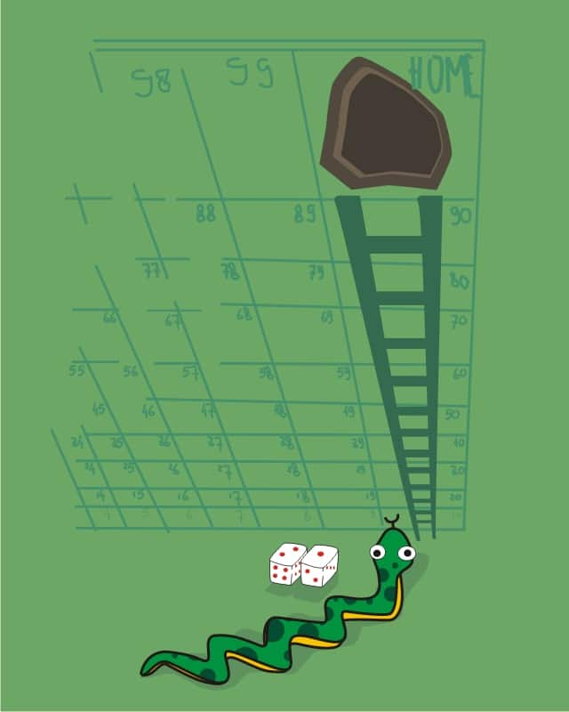 Snakes and Ladders by soe on Threadless