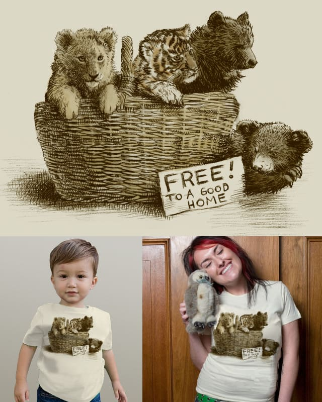 Lions & Tigers & Bears by opifan64 on Threadless