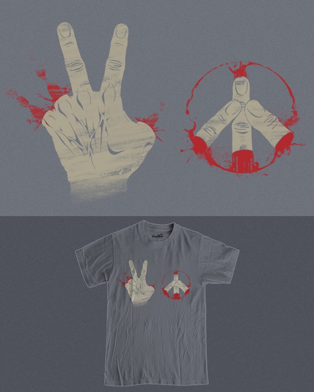 How to get 2 PEACE in just one step by RicoMambo on Threadless