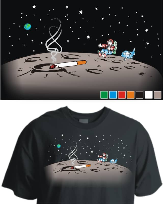Surprise in Space by Micro Riyas on Threadless
