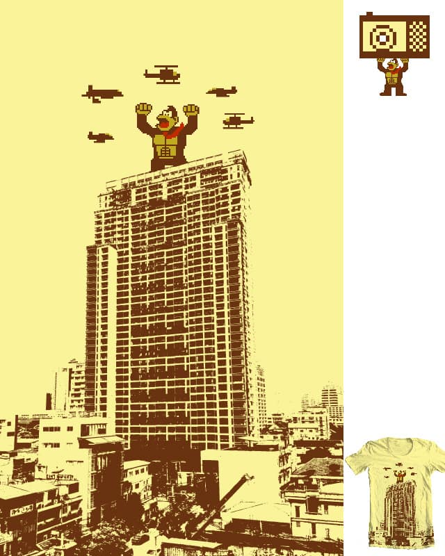 Towerblock Kong by Thomas Orrow on Threadless