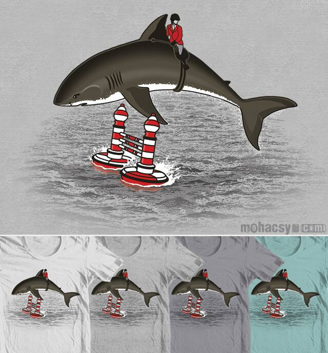 shark jumping by Andreas Mohacsy on Threadless