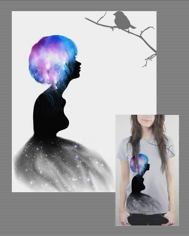 A Piece of Celestial Mind by yetitutu on Threadless
