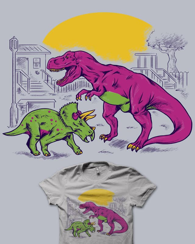 The Unfriendly Dinosaur by Melee_Ninja on Threadless
