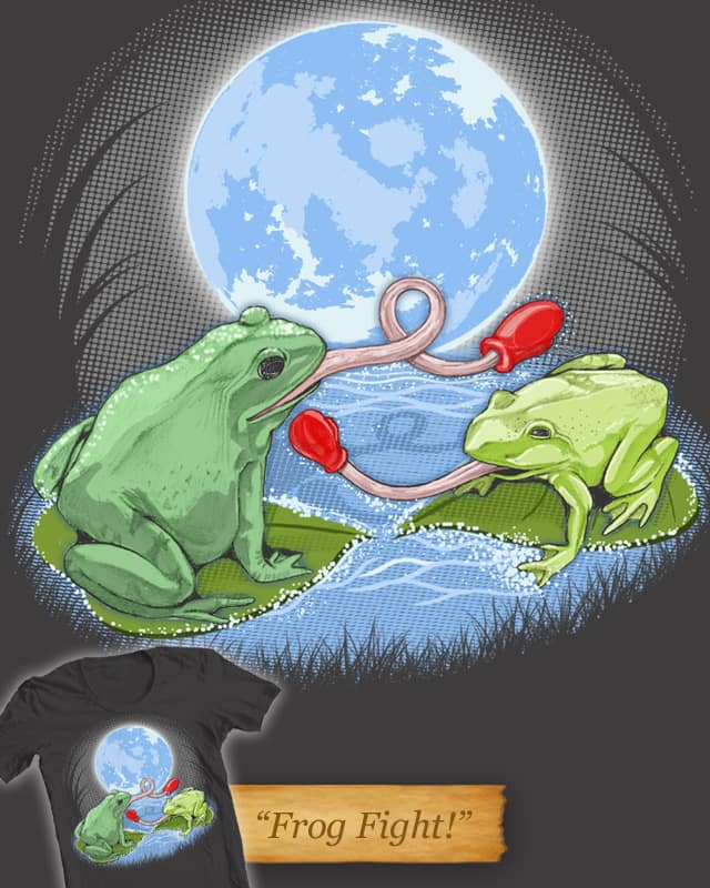 Frog Fight! by artdrops on Threadless