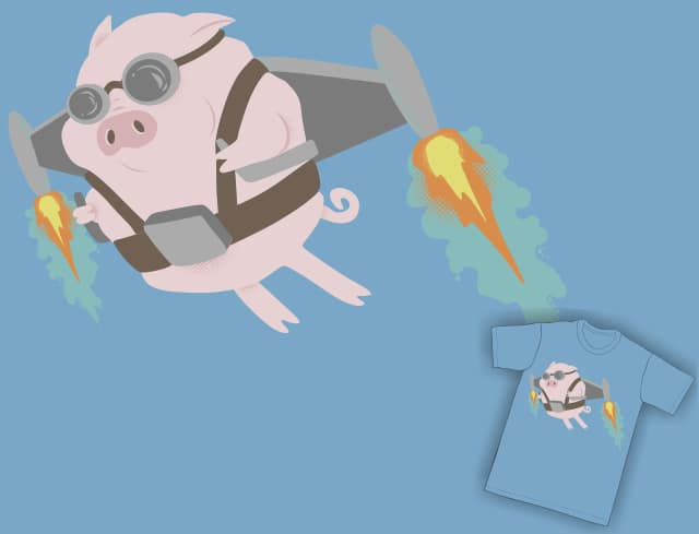Pigs Can Fly! by Travegan on Threadless