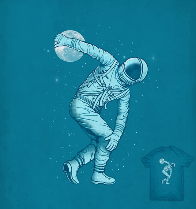 Astronaut Discus Throwing by ben chen on Threadless