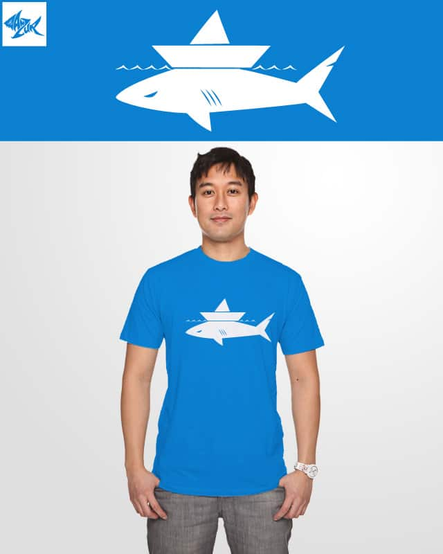 shark and boat by ghozai on Threadless