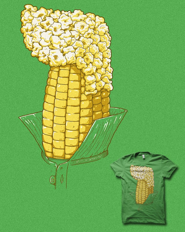 popcorn with a popped collar by biotwist on Threadless