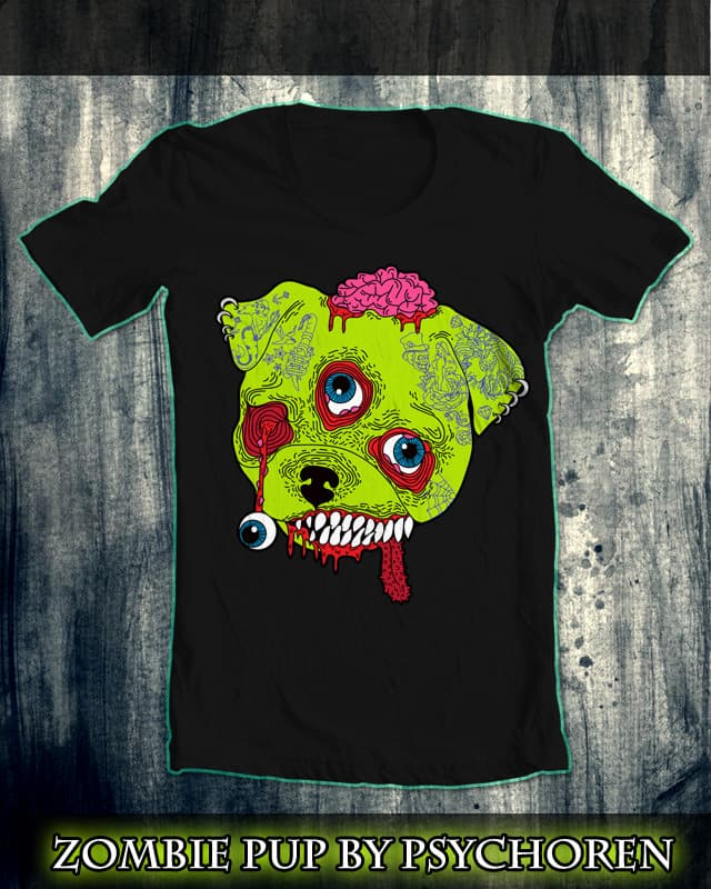 Zombie Pup by Psycho_Ren on Threadless