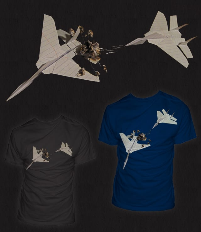 Paper Plane Dogfight by skindapple on Threadless