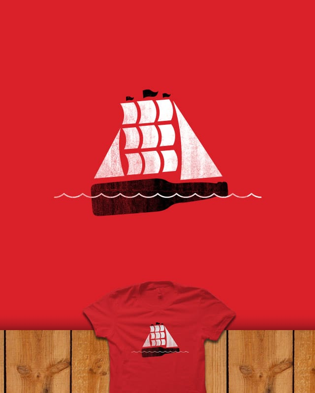 Ship on a Bottle by quick-brown-fox on Threadless
