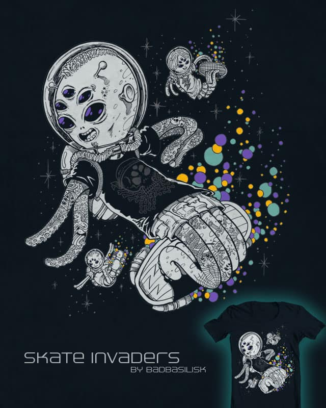 Skate Invaders by badbasilisk on Threadless