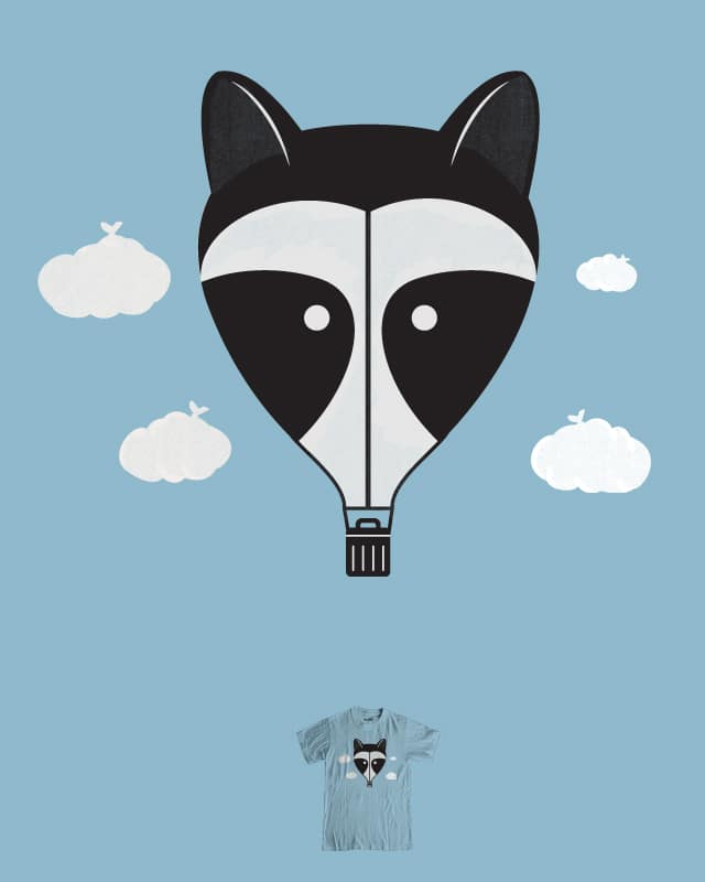 Hot Air Raccoon by murraymullet on Threadless