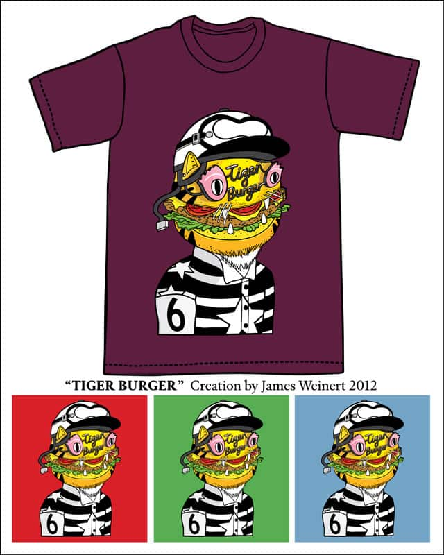 TIGER BURGER by Why Not James on Threadless