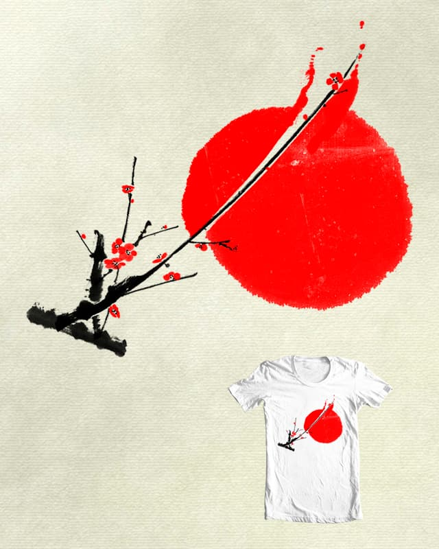 A Twig of Ume Blossoms by lifedriver on Threadless