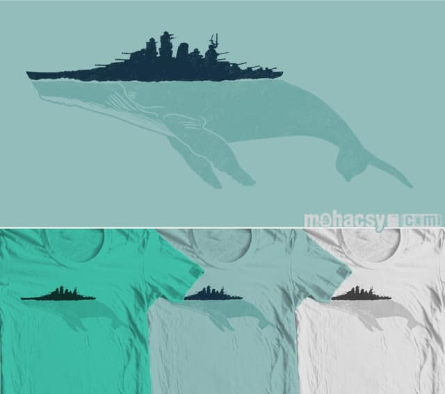 FIGHTBACK WHALE by Andreas Mohacsy on Threadless