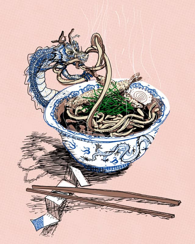 Noodle Thief by mizuchaud on Threadless
