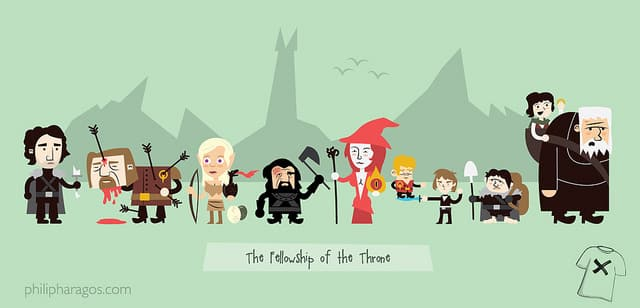 The Fellowship of the Throne by Haragos on Threadless