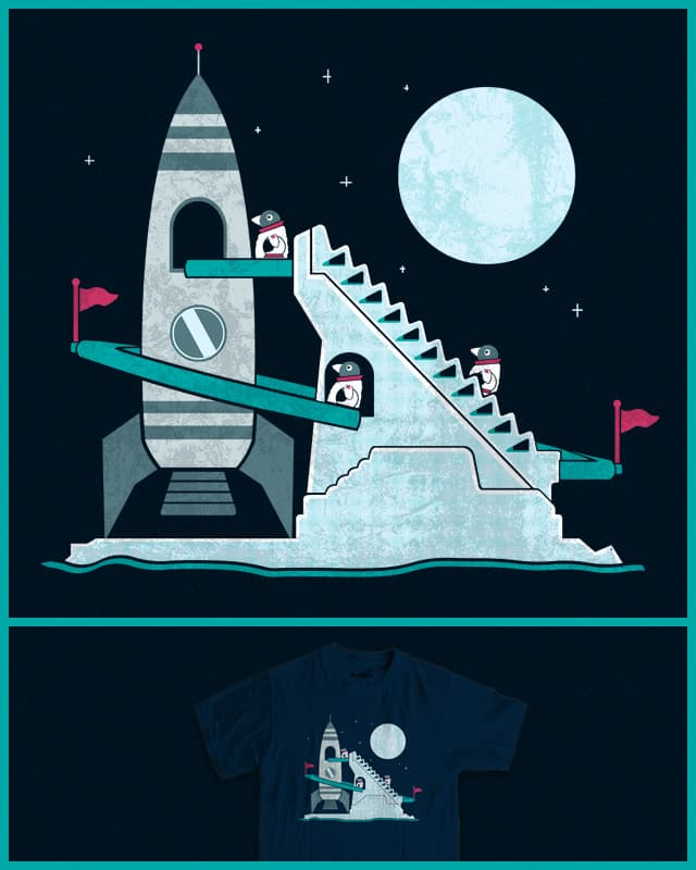 Penguin Space Race by TeoZ on Threadless
